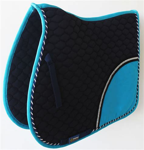 saddle english pad horse quilted purpose cotton pads contoured turquoise cheap saddles blankets