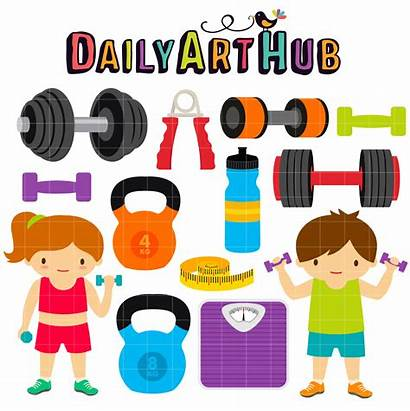 Gym Fitness Clipart Clip Daily Cliparts Objects