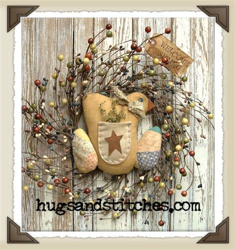 Primitive Easter Home Decor by Primitive Decor Made From Vintage Items By Hugsandstitches