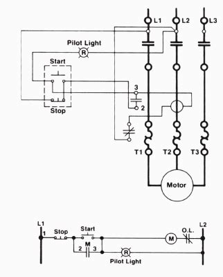 Three Wire Control Circuit With Indicator Lamp