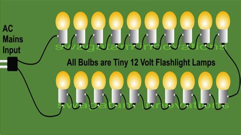 make 230 volts bulb string light circuits for diwali and