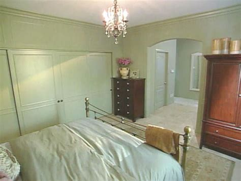 painted the same color as the walls the closet doors blend seamlessly with the bedroom s decor