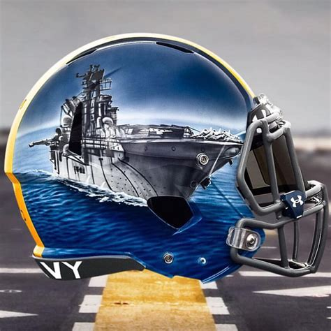 Ship Football by What The Helmet Navy Plays Head Games Uni Watch