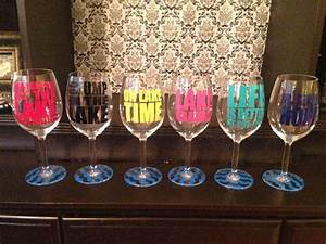 custom lake sayings vinyl wine tumbler glass decals With vinyl lettering for wine glasses