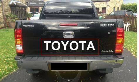 sticker decal  toyota hilux tailgate tailgate rear door