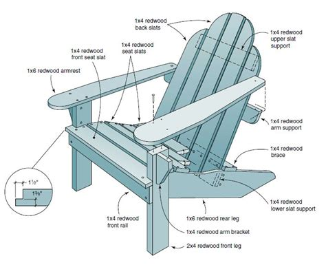 Reclining Adirondack Chair Plans  Easy Diy Woodworking