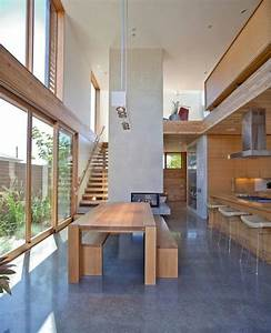 modern house design with warm wooden interiors and With house interior design woodwork