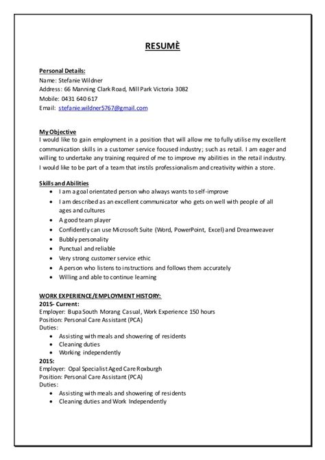 stefanie wildner resume nov