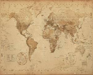Affiche Carte Du Monde : carte du monde antique poster affiche acheter le sur ~ Dailycaller-alerts.com Idées de Décoration