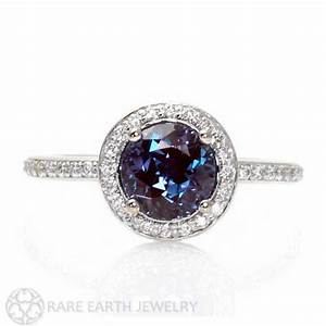 Antique Engagement Rings: Halo Alexandrite Engagement Ring ...