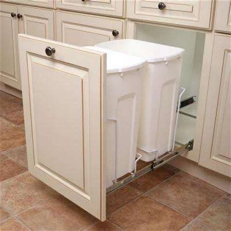 pull  built  trash cans cabinet   sink