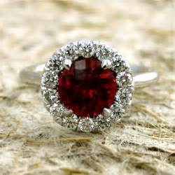 garnet and engagement rings scarlet garnet engagement ring in 14k white gold with