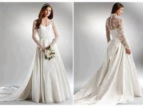 wedding dress sleeves lace ivory gown wedding dress with lace sleeves inspired by kate middleton 39 s burton