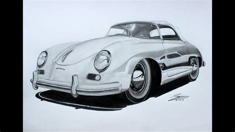 The porsche design p'3120 series of writing instruments are machined from single blocks of aluminum. Porsche 356 Speedster Pencil Drawing - YouTube