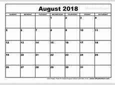 Calendar 2018 Printable August mathmarkstrainonescom