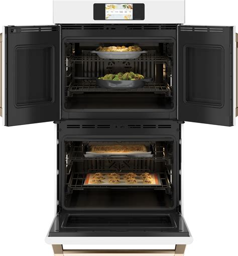 ctdfpnw cafe   double french door oven convection matte white