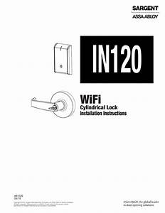 Sargent In120 Cylindrical Lock Installation Instructions