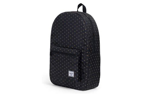 Herschel Backpack Packable Daypack Black Gridlock / Gold