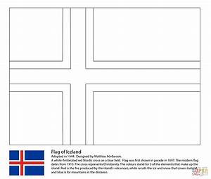 Flag Of Iceland Coloring Page Free Printable Coloring Pages