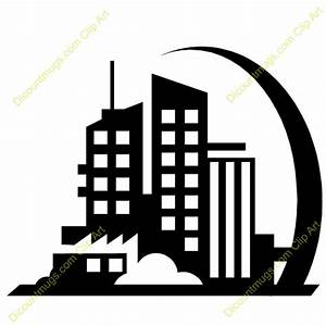 Building Clip Art Black And White