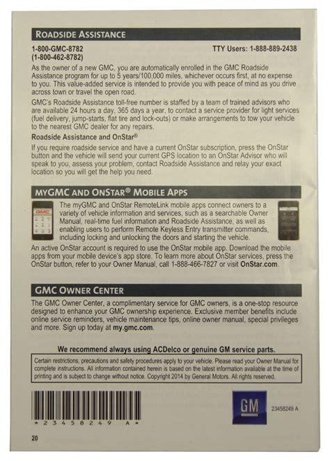 free service manuals online 2012 gmc yukon xl 2500 interior lighting 2015 gmc yukon xl us owners manual warranty booklet new oem 22953728 22953642 factory oem parts