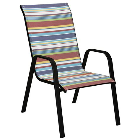 essential garden bartlett assorted stack chair striped