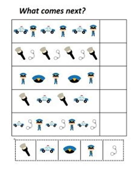 police   worksheet preschool  homeschool