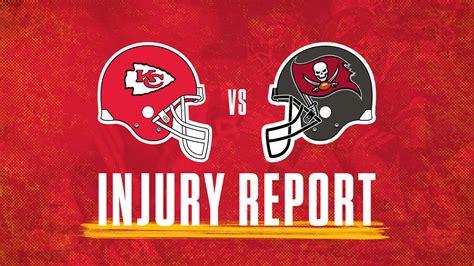 week  injury report chiefs  buccaneers