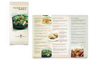 Menu Brochure Template Word by Cafe Deli Take Out Brochure Template Word Publisher