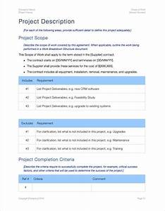 project scope document template scope of work template apple iwork pages numbers