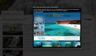 ithaca redirects visitors to florida keys website instead