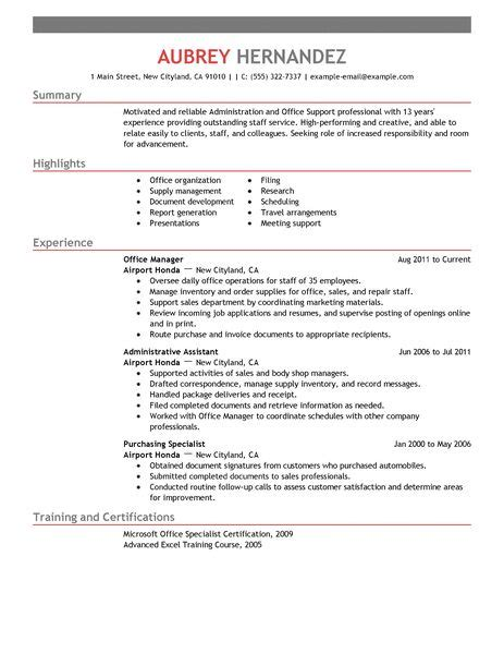 Office Administrative Resume by Admin Resume Exles Admin Sle Resumes Livecareer