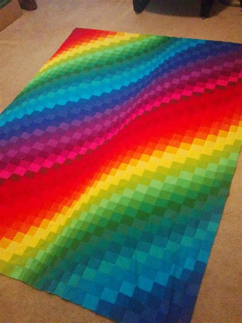 rainbow bright bargello quilt favequiltscom