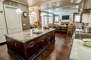 Landscaping Agreement Open Concept Kitchen With Industrial Pendant Lights Hgtv