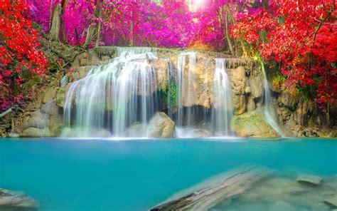 Autumn Wallpaper Hd 1920x1080 Wallpaper Waterfall Thailand Erawan Falls Erawan National Park 4k 5k Nature 1760