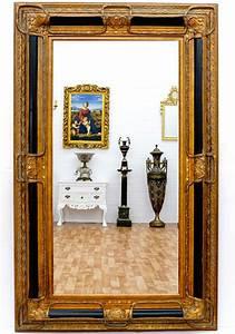 Miroir Baroque Doré : miroir baroque cadre en bois noir et dor 160x98 cm miroirs baroque classic stores ~ Teatrodelosmanantiales.com Idées de Décoration
