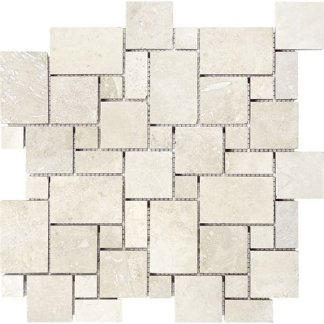 shop anatolia tile chiaro filled and honed versailles