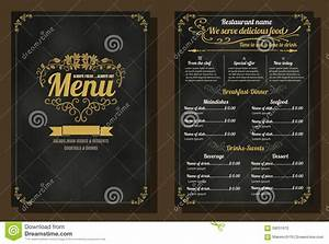 Restaurant Menu , Vintage Design For Background Stock ...