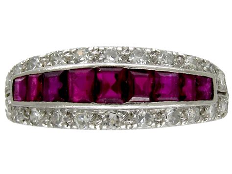 ruby deco ring the antique jewellery company
