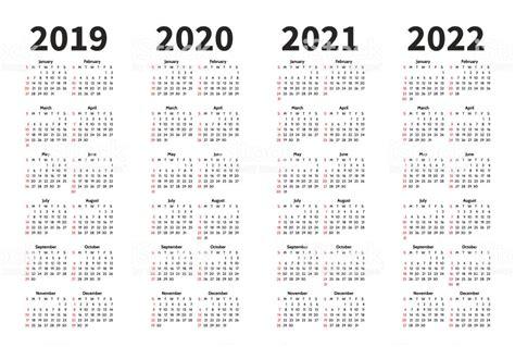 kalender und jahrvektordesignvorlage einfache