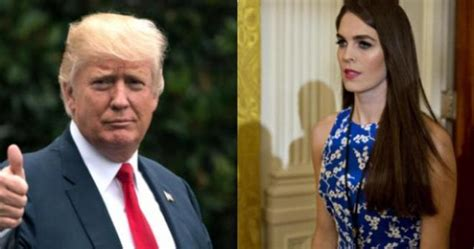 Trump ripped on Twitter for reportedly calling Hope Hicks ...