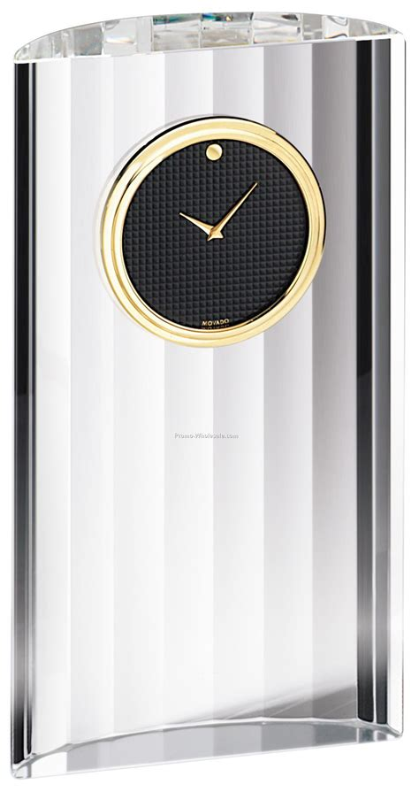 Movado Desk Clock Engraved by Movado Museum Clock Thermometer Photo Frame