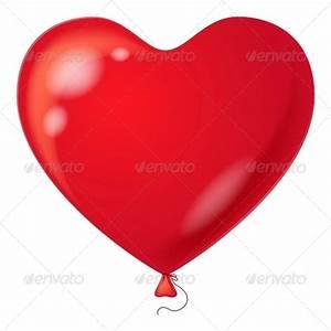 Red Balloon, Heart Shaped by Alexokokok GraphicRiver