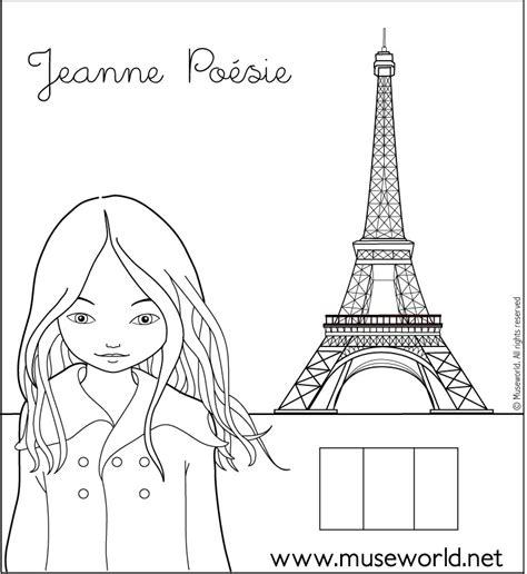 jeanne  paris coloring pages hellokidscom