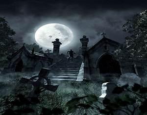 Graveyard Full Moon by myjavier007 on DeviantArt