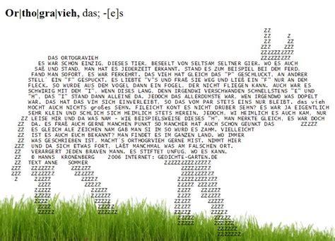Gedicht Das Orthogravieh Gedichtegartende