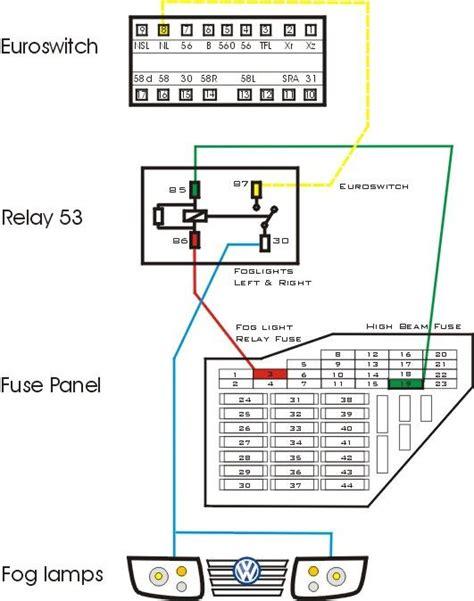 Golf Light Switch Wiring Diagram by Foglight Wiring Oem Style Tdiclub Forums Auto Gti