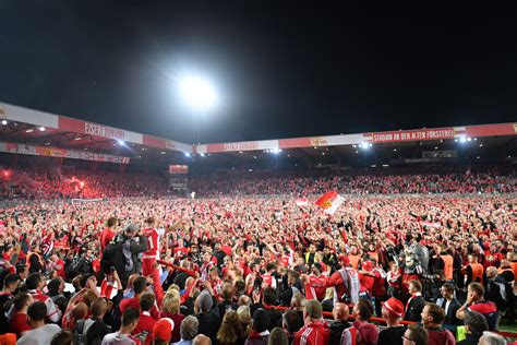 V., commonly known as 1. Union Berlin fans storm pitch to celebrate first ever ...