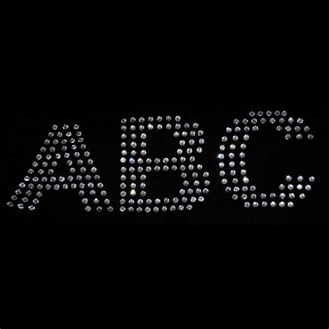 iron on rhinestone letters 2 inch rhinestone letters iron on transfer arial s ebay