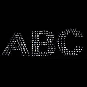 2 inch rhinestone letters iron on transfer arial s ebay for Iron on transfer letters
